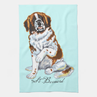 saint bernard kitchen towel