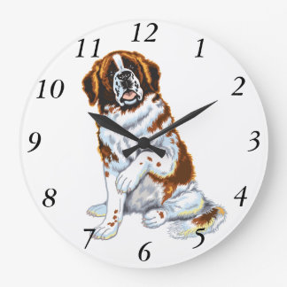 saint bernard large clock