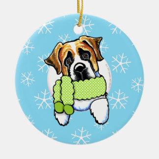 Saint Bernard Let it Snow Ornament