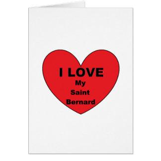 saint bernard love card