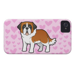 Case-Mate iPhone 4 Barely There Universal Case with Saint Bernard Phone Cases design