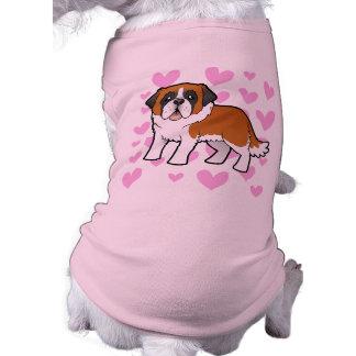 Saint Bernard Love Doggie Tshirt