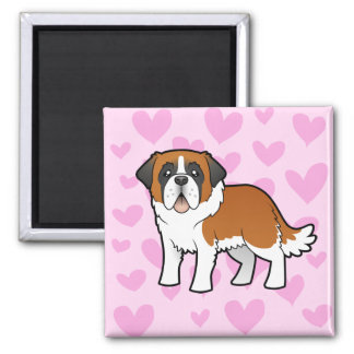 Saint Bernard Love Magnet