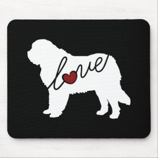 Saint Bernard Love Mouse Pad