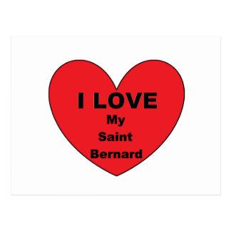 saint bernard love postcard