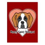 Saint Bernard Lover Postcard