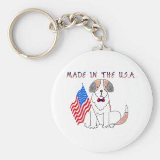 Saint Bernard Made In The USA Keychain