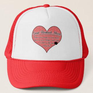Saint Bernard Mixes Paw Prints Dog Humor Trucker Hat