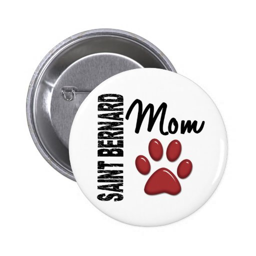 Saint Bernard Mom 2 2 Inch Round Button