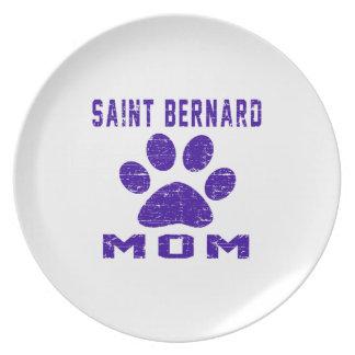Saint Bernard Mom Gifts Designs Plate