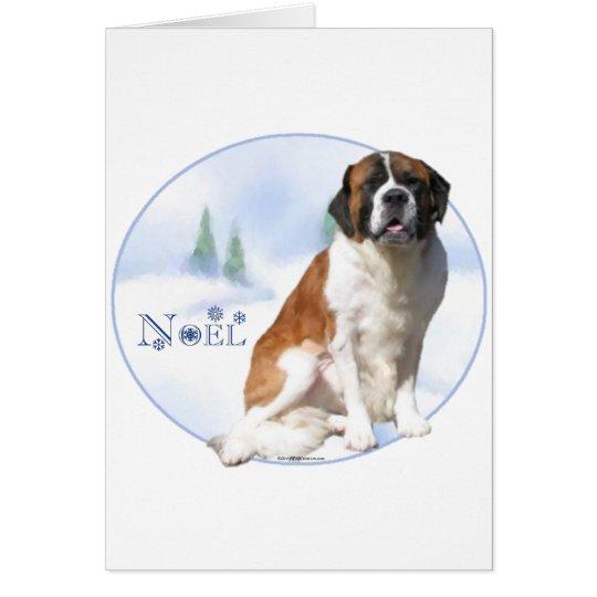 Saint Bernard Noel Card