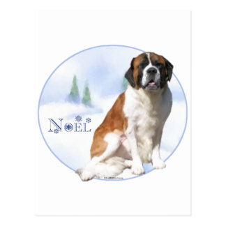 Saint Bernard Noel Postcard