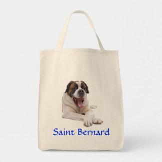Saint Bernard Organic Grocery Canvas Tote Bag