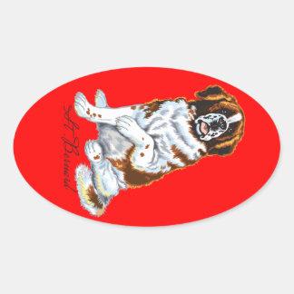 saint bernard oval sticker