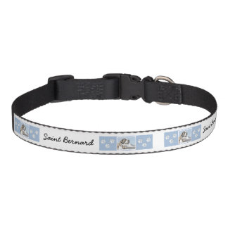 Saint Bernard Painting - Cute Original Dog Art Pet Collar