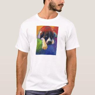 SAINT BERNARD PAINTING giclee print svetlana novik T-Shirt