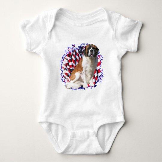 Saint Bernard Patriot Baby Bodysuit