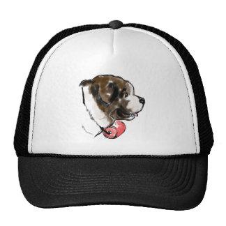 saint_bernard_portrait trucker hat