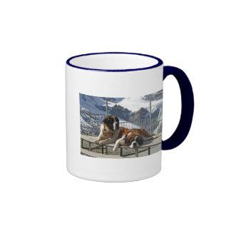 Saint-Bernard posing Ringer Coffee Mug