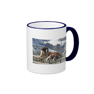 Saint-Bernard posing Ringer Mug