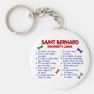 SAINT BERNARD Property Laws 2 Basic Round Button Keychain
