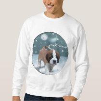 Saint Bernard Puppy Christmas Gifts Sweatshirt