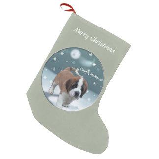Saint Bernard Puppy Christmas Small Christmas Stocking