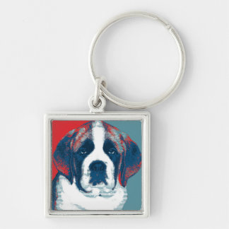 Saint Bernard Puppy Hope Political Parody Design Keychain