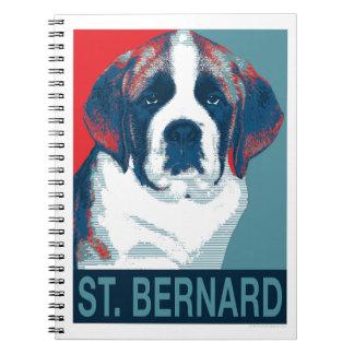 Saint Bernard Puppy Hope Political Parody Design Notebook