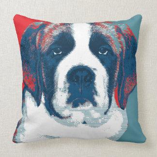 Saint Bernard Puppy Hope Political Parody Design Pillows