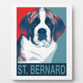 Saint Bernard Puppy Hope Political Parody Design Plaque