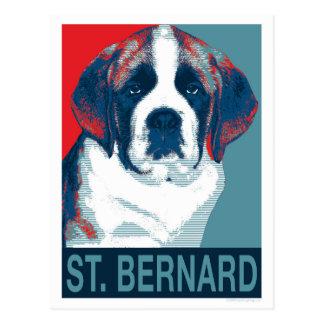 Saint Bernard Puppy Hope Political Parody Design Postcard