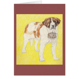 Saint Bernard, Ready For Action Greeting Cards