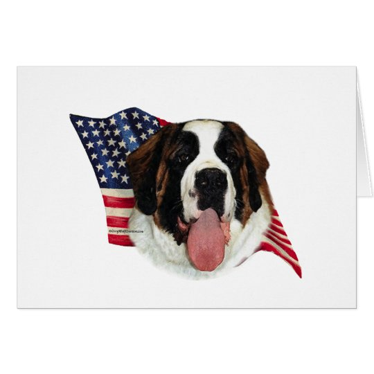 Saint Bernard (rough) Flag Card