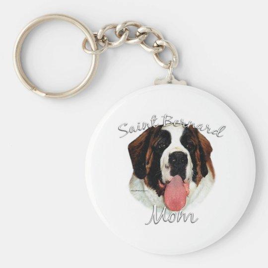 Saint Bernard (rough) Mom 2 Keychain