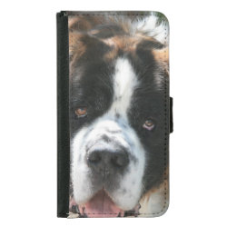 Galaxy S5 Wallet Case with Saint Bernard Phone Cases design