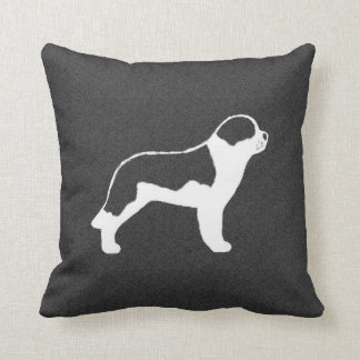 Saint Bernard Silhouette Throw Pillow