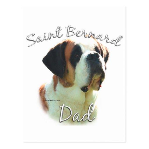 Saint Bernard (smooth) Dad 2 Postcard