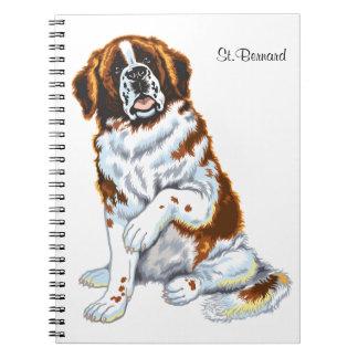 saint bernard spiral notebooks