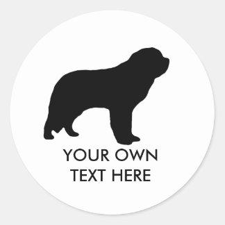 Saint Bernard Round Sticker