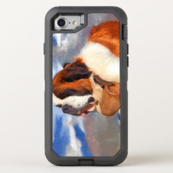 OtterBox Apple iPhone 7 Symmetry Case with Saint Bernard Phone Cases design