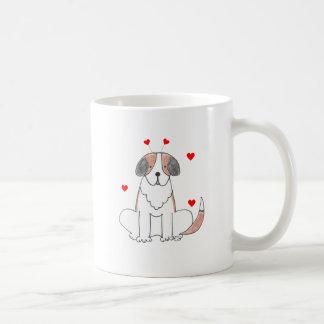 Saint Bernard Valentine Ears Coffee Mugs