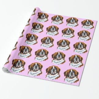 saint bernard wrapping paper
