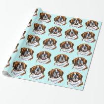saint bernard wrapping paper
