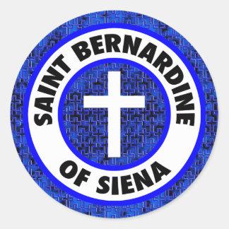 Saint Bernardine of Siena Classic Round Sticker