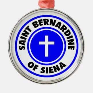 Saint Bernardine of Siena Metal Ornament