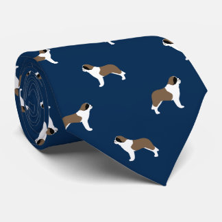 Saint Bernards Pattern Blue Neck Tie