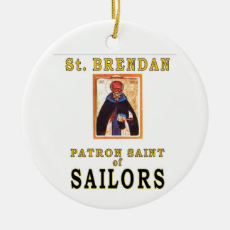 SAINT BRENDON Double-Sided CERAMIC ROUND CHRISTMAS ORNAMENT