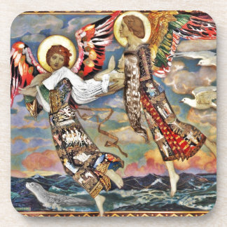 Saint Bride Carried by Angels Drink Coaster