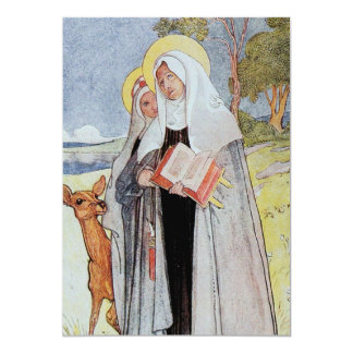Saint Bridget and Deer Card